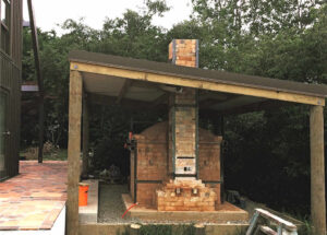 Petra's kiln re-build